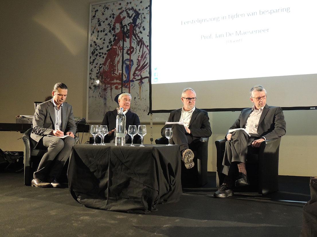 Debat organisatie 1ste lijn: Lieven Annemans - Hans van Putten - Willy Vertongen (moderator) - Jan De Maeseneer